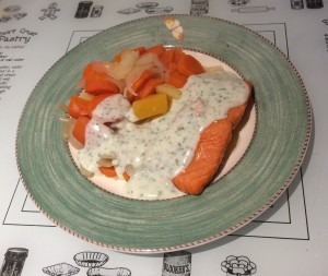 Steam Baked Trout