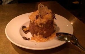 Pumpkin risotto. In a pumpkin. Delicious