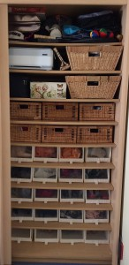 On the shelf: baskets, hat boxes and clear shoeboxes help to organise, protect and showcase your things