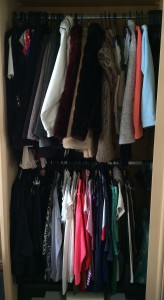 On the rails: two levels of clothes makes the most use of the vertical hanging space