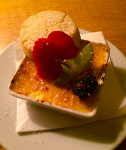 Creme brulee with shortbread