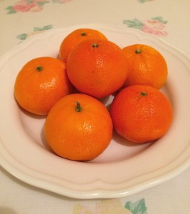 Mandarins: one of numerous varieties of orange and a super source of Vitamin C