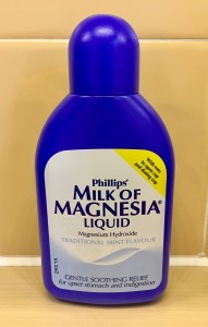 Milk of Magnesia: The age-old antacid contains magnesium that is vital for life