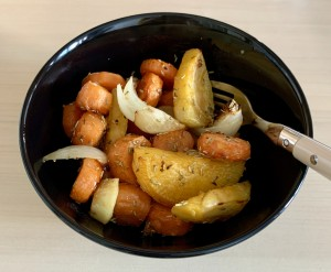 Roast vegetable medley: a cheap, easy and tasty way to eat at least your five a day