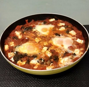 Versatile vegetarian breakfast: Shakshuka combines tomatoes, onions, garlic, spices and poached eggs - but can be adapted to suit any palate